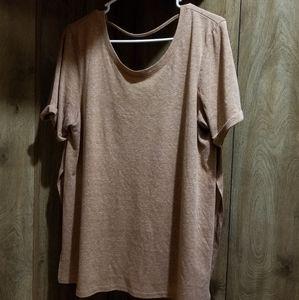 Pumpkin split side shirt